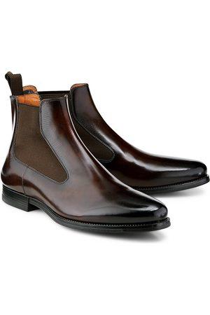 santoni Herren Chelsea Boots - Chelsea-Boots in dunkelbraun, Boots für Herren