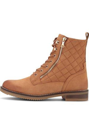 Cox Schnür-Boots in mittelbraun, Stiefeletten für Damen