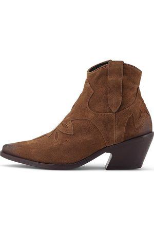 Curiosité Damen Stiefeletten - Western-Stiefelette 1646 in mittelbraun, Boots für Damen