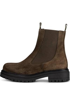 KMB Damen Stiefeletten - Chelsea-Boots A5010 in khaki, Boots für Damen