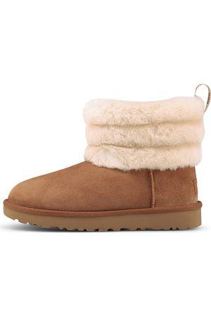 UGG Damen Stiefel - Boots Fluff Mini Quilted in hellbraun, Hausschuhe für Damen