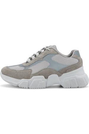 Kaltur Damen Sneakers - Fashion-Sneaker in mittelgrau, Sneaker für Damen