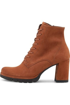 Paul Green Schnürstiefelette in mittelbraun, Boots für Damen