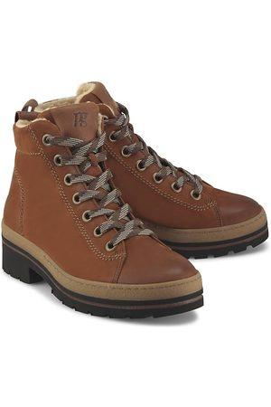 Paul Green Schnür-Boots in mittelbraun, Boots für Damen