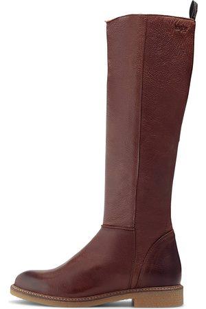 Hub Damen Overknees - Stiefel Venda in dunkelbraun, Stiefel für Damen