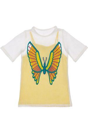 Stella McCartney 2-in-1-meshkleid Mit Schmetterlingshäkelei