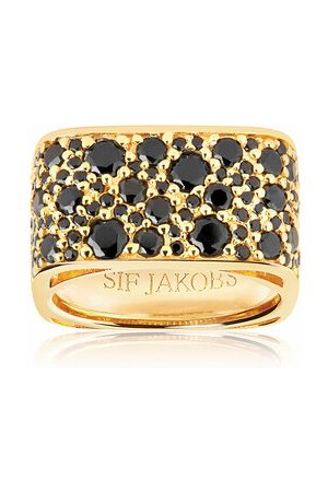 Sif Jakobs Ring Novara Quadrato Ring Black gold