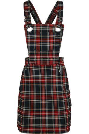 Hell Bunny Damen Midikleider - Clash Pinafore Dress Mittellanges Kleid /