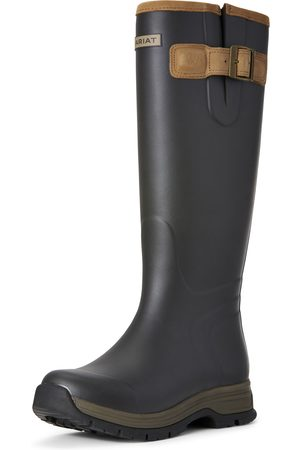 Ariat Women's Burford Waterproof Rubber Boots in Brown Leather