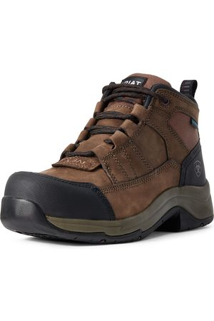 Ariat Women's Telluride Work Waterproof Composite Toe Boots in Distressed Brown Leather
