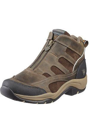 Ariat Women's Terrain Zip Waterproof Shoes in Distressed Brown Leather