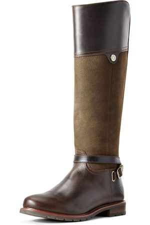 Ariat Women's Carden Waterproof Boots in Chocolate/Willow Leather