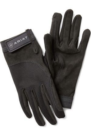 Ariat TEK Grip Gloves in Black Cotton Twill