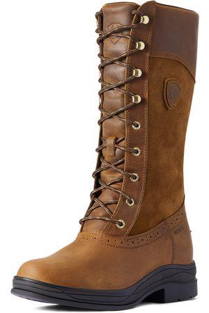 Ariat Damen Stiefel - Women's Wythburn Waterproof Boots in Weathered Brown Leather