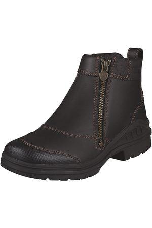 Ariat Women's Barnyard Side Zip Boot in Dark Brown Leather