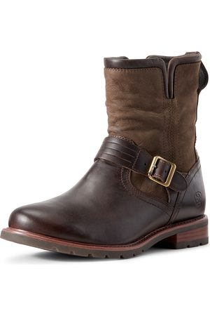 Ariat Women's Savannah Waterproof Boots in Chocolate/Willow Leather