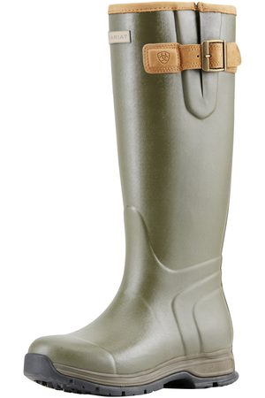 Ariat Women's Burford Waterproof Rubber Boots in Olive Green Leather