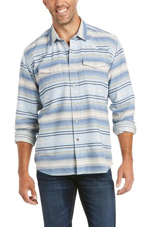 Ariat Men's Auburn Retro Fit Shirt Long Sleeve in By Water Cotton