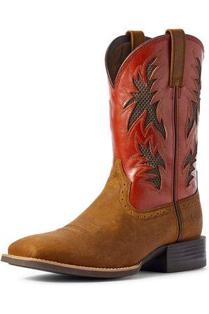 Ariat Herren Schuhe - Men's Sport Cool VentTEK Western Boots in Brushed Brown Leather