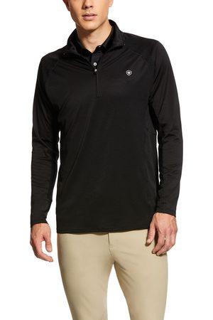 Ariat Men's Sunstopper 1/4 Zip Baselayer Top Long Sleeve in Black