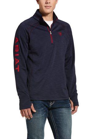 Ariat Men's Tek Team 1/2 Zip Sweatshirt Long Sleeve Fleece in Navy Heather