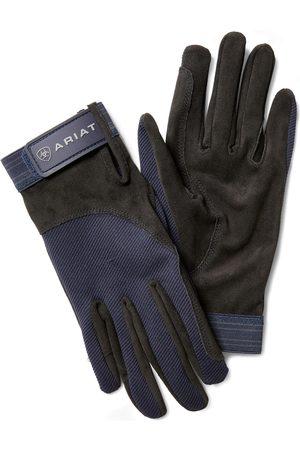 Ariat Tek Grip Gloves in Blue Cotton Twill