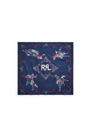 RRL Baumwoll-Bandana mit Rodeomotiv