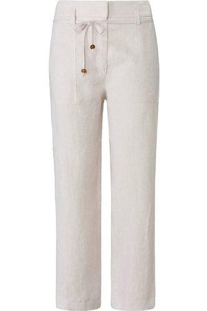 raffaello rossi Knöchellange Hose aus 100% Leinen