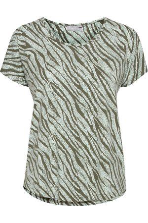 FRANSA Shirt mit Allover Print