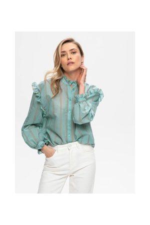 Promod Damen Blusen - Bluse mit Rüschen