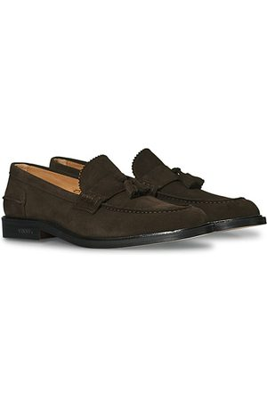 VINNY's Townee Tassel Loafer Dark Brown Suede
