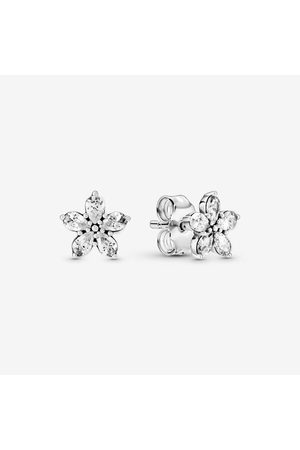 PANDORA Damen Armbänder - Funkelnde Schneeflocke Ohrringe