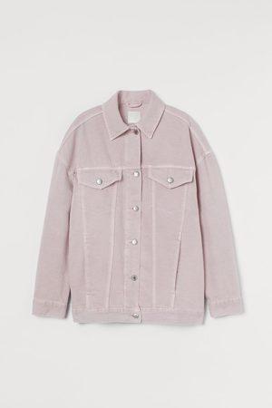 H&M Damen Jeansjacken - Oversized Jeansjacke