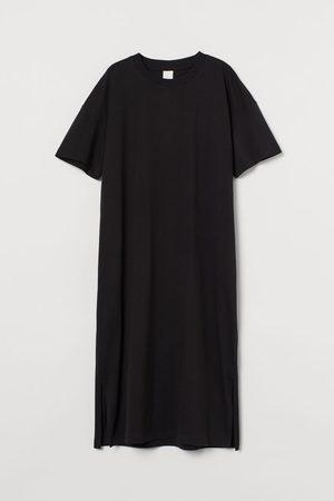 H&M Damen Freizeitkleider - Wadenlanges T-Shirt-Kleid