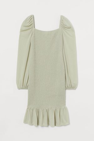 H&M MAMA Gesmoktes Kleid