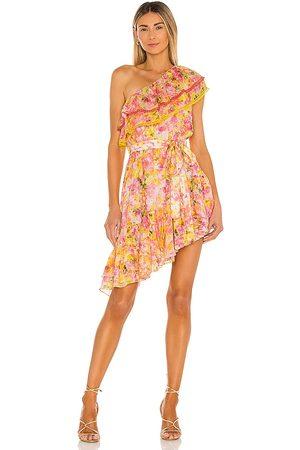 ROCOCO SAND Nesh Mini Dress in , Yellow. Size XS, S, M.