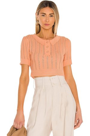 For Love & Lemons Damen Poloshirts - Phoebe Pointelle Polo Sweater in . Size XS, S, M.