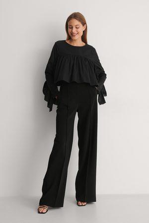Curated Styles Damen Blusen - Bluse Mit Gerafftem Detail - Black