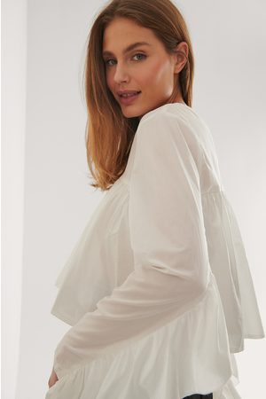 Curated Styles Bluse Mit Gerafftem Detail - White