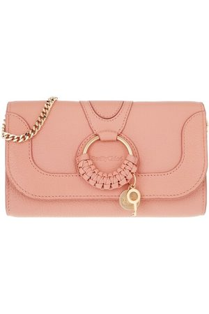 See by Chloé Damen Geldbörsen & Etuis - Crossbody Bags Hana Wallet On Chain pink