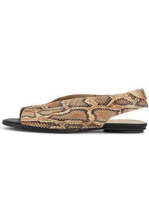 POESIE VENEZIANE Damen Sandalen - Peeptoe-Sandale in python, Sandalen für Damen