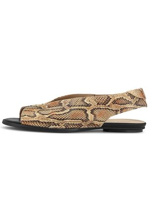 POESIE VENEZIANE Peeptoe-Sandale in python, Sandalen für Damen