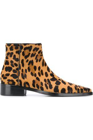 Dolce & Gabbana Damen Stiefeletten - Stiefeletten mit Leoparden-Print