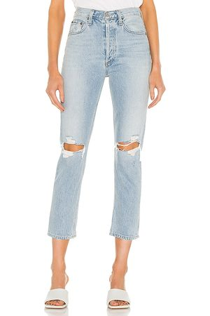 AGOLDE Riley hohe Straight Crop Jeans in . Size 24, 25, 26, 27, 28, 29, 30, 31, 32, 33, 34.