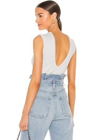 AGOLDE Sutton V Back Bodysuit in . Size XS, S, M, XL.
