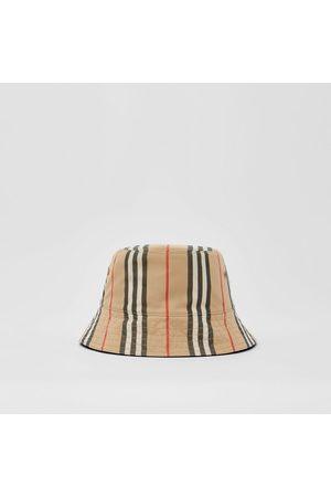 Burberry Damen Hüte - Wendbarer Fischerhut aus Baumwolle im Streifendesign