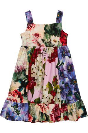 Dolce & Gabbana Mädchen Kleider - Kleid Aus Baumwollinterlock Mit Druck