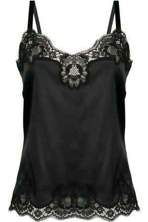 Dolce & Gabbana Damen Unterhemden & Unterziehshirts - Camisole-Top mit Spitzeneinsätzen