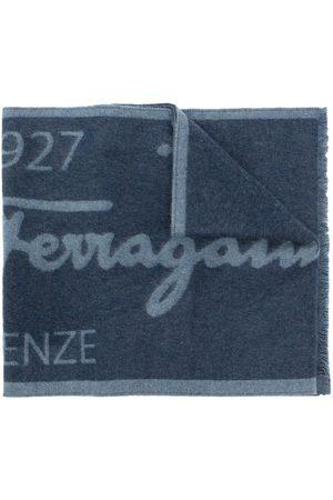 Salvatore Ferragamo Herren Schals - Zweifarbiger Schal mit Logo