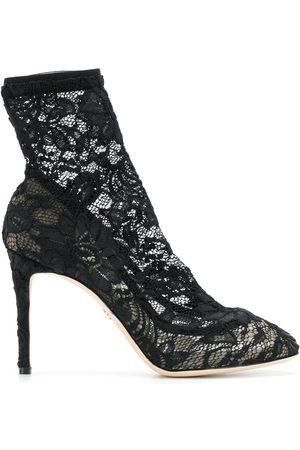 Dolce & Gabbana Stiletto-Stiefeletten aus Spitze
